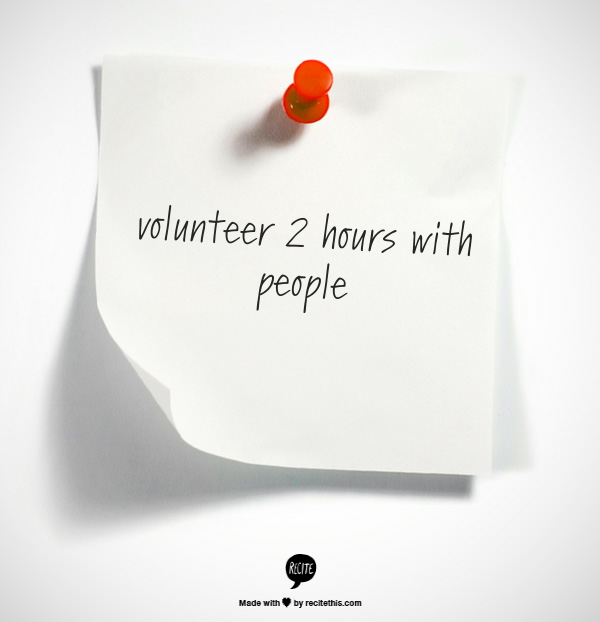 Week 14 to Mindful Transformation: Volunteer