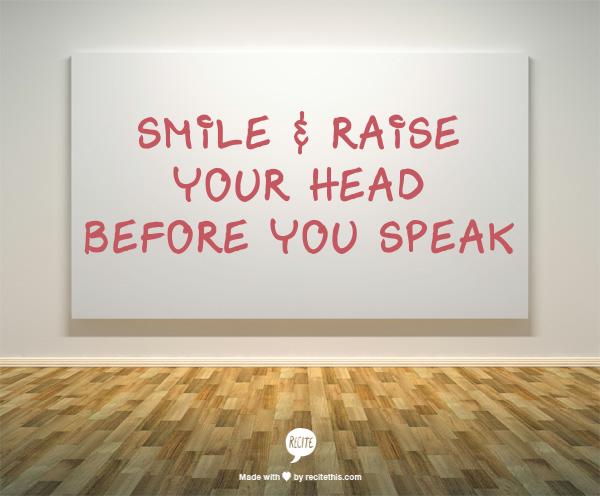 Week 18 to Mindful Transformation: Smile Before Speaking