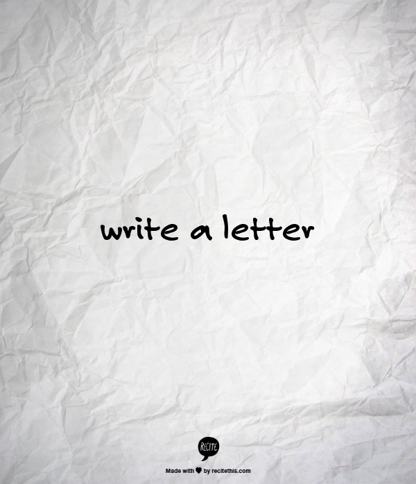 Week 21 to Mindful Transformation: Write a Letter