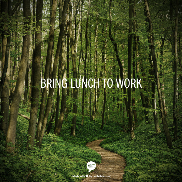 Week 23 to Mindful Transformation: Bring Lunch